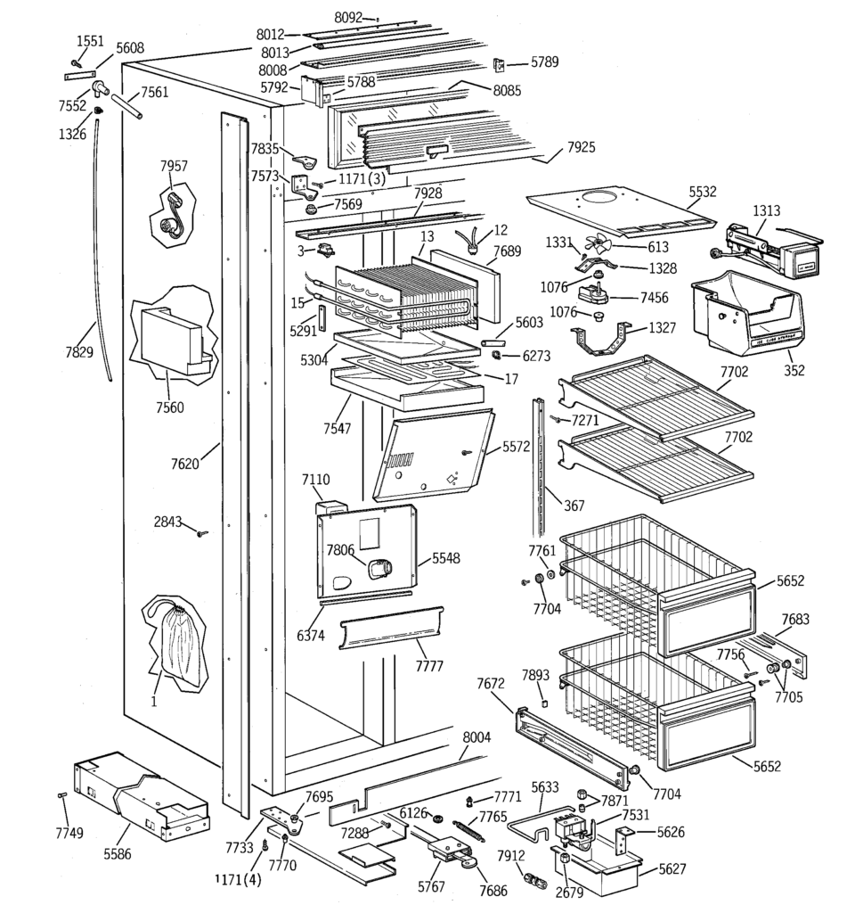 Ge Side By Side Refrigerator Parts Diagram Wiring Diagrams